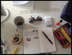 Krystyna Kuhns Schreibtisch